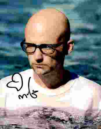 Moby authentic signed 8x10 picture