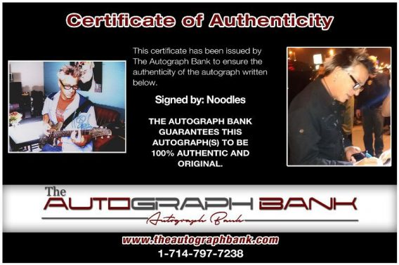 Noodles of Offspring proof of signing certificate