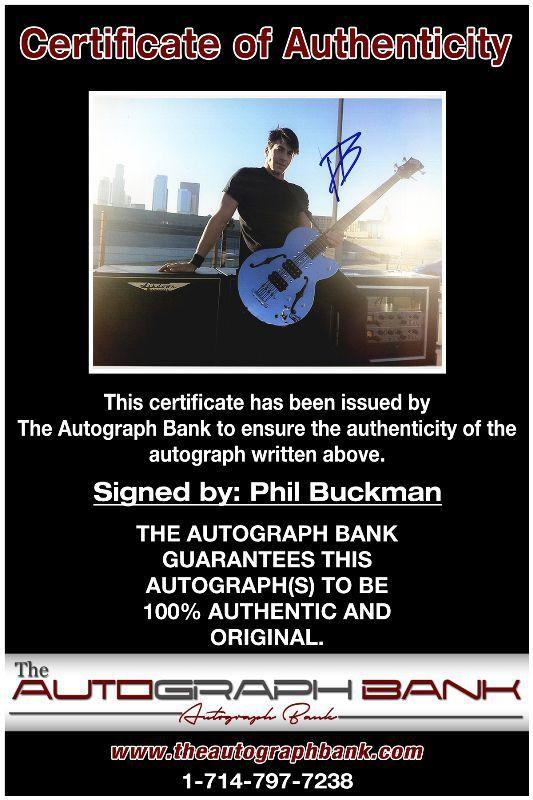 Phil Buckman proof of signing certificate