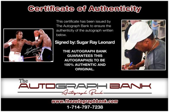 Sugar Ray proof of signing certificate