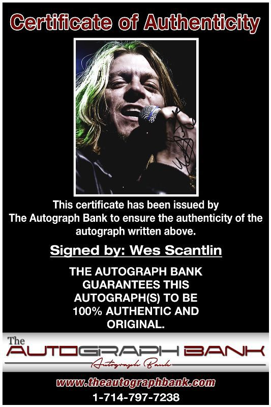 Wes Scantlin proof of signing certificate