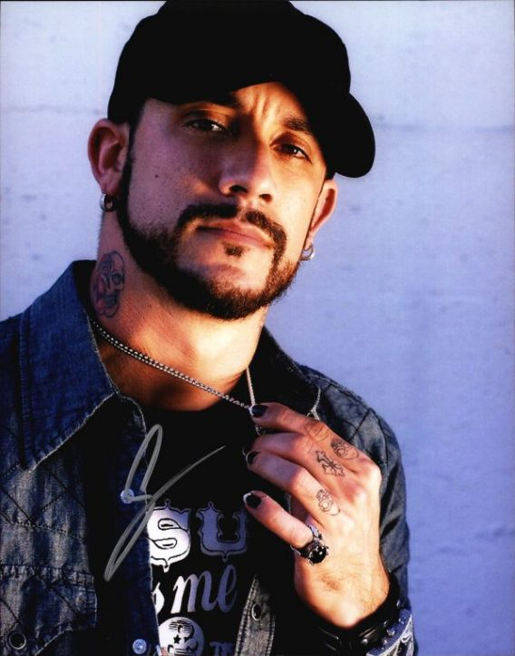 A.J. McLean authentic signed 8x10 picture