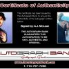 A.J. McLean proof of signing certificate
