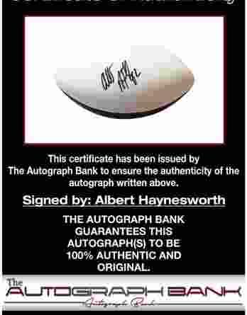 Albert Haynesworth authentic signed 8x10 picture