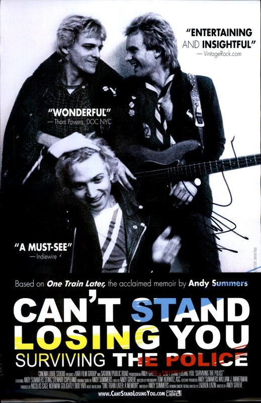 Andy Summers authentic signed 8x10 picture