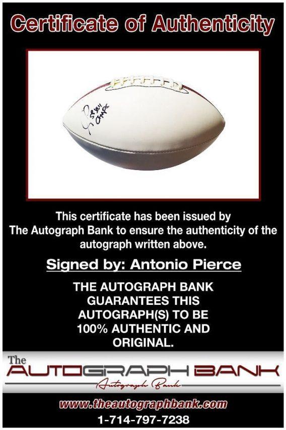 Antonio Pierce proof of signing certificate