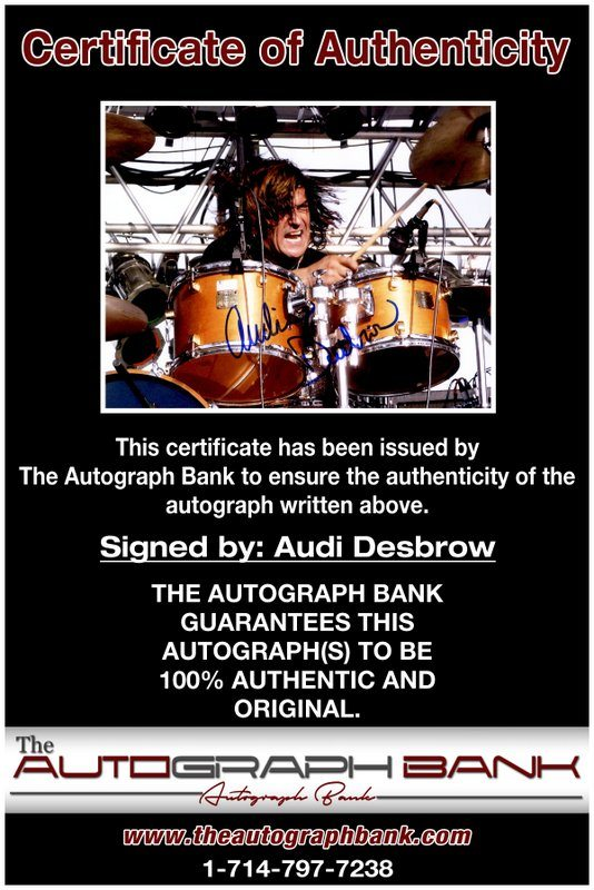 Audi Desbrow proof of signing certificate