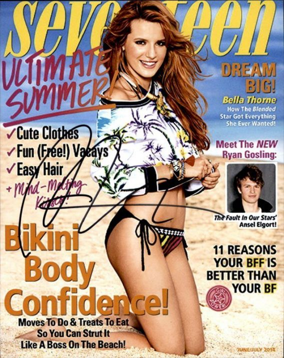 Bella Thorne authentic signed 8x10 picture
