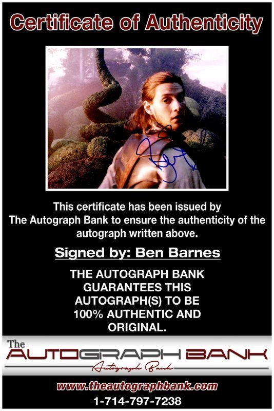 Ben Barnes proof of signing certificate
