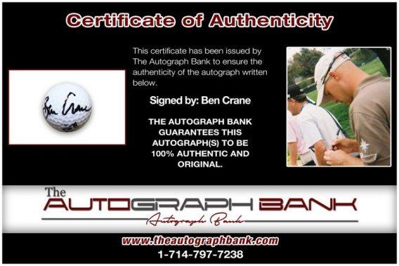 Ben Crane proof of signing certificate