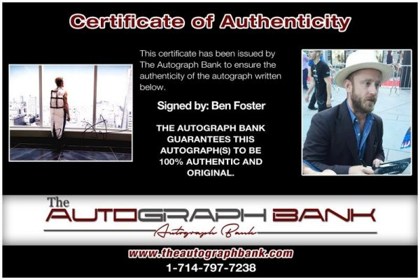 Ben Foster proof of signing certificate