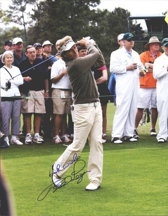 Bernhard Langer authentic signed 8x10 picture
