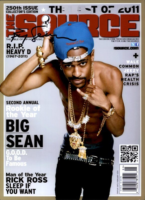 Big Sean authentic signed 8x10 picture