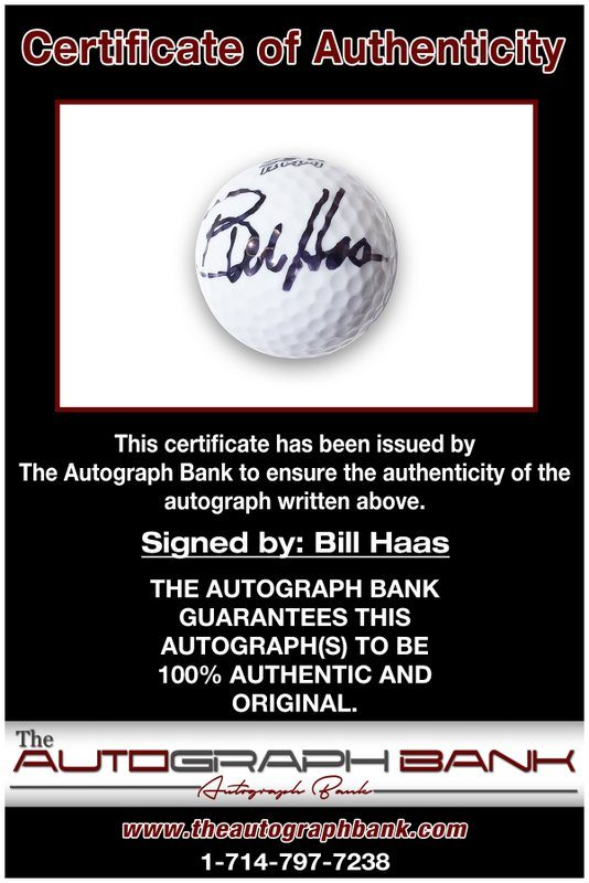 Bill Haas proof of signing certificate