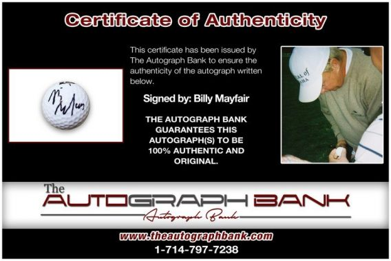Billy Mayfair proof of signing certificate
