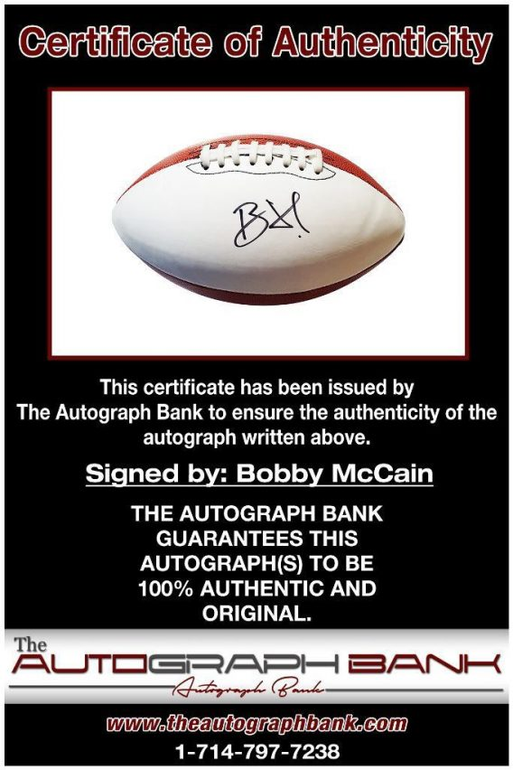 Bobby McCain proof of signing certificate
