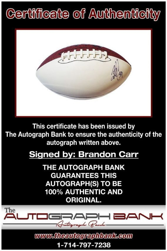 Brandon Carr proof of signing certificate