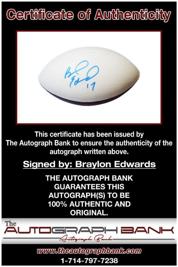 Braylon Edwards proof of signing certificate