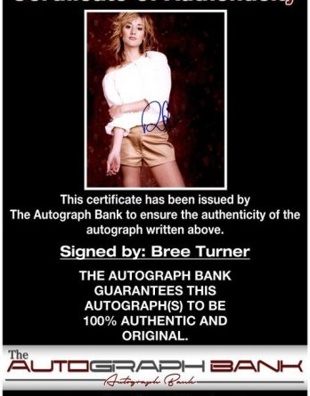 Bree Turner Archives Authentic Autographs Low Prices The