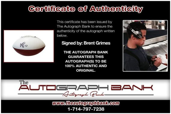 Brent Grimes proof of signing certificate
