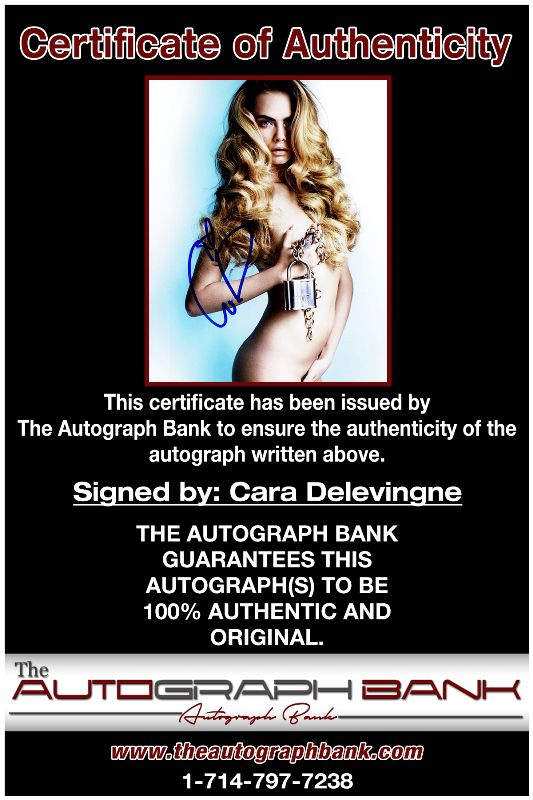 Cara Delevingne proof of signing certificate