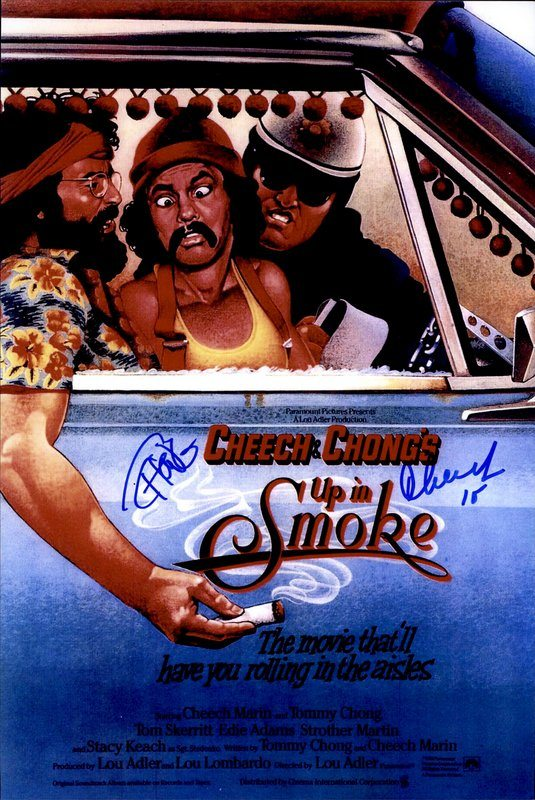 Cheech & Chong authentic signed 8x10 picture