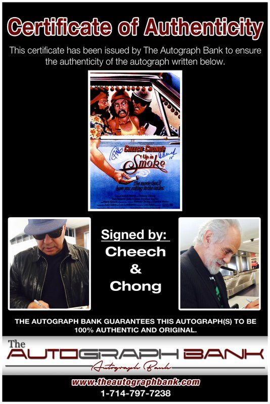 Cheech & Chong proof of signing certificate