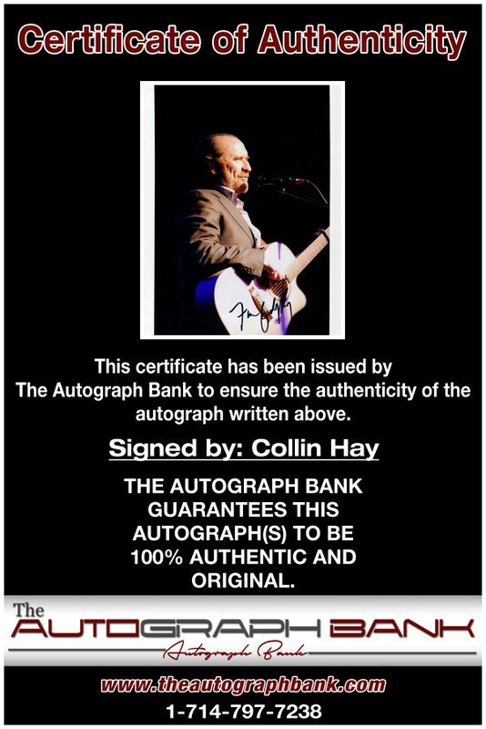 Colin Hay proof of signing certificate