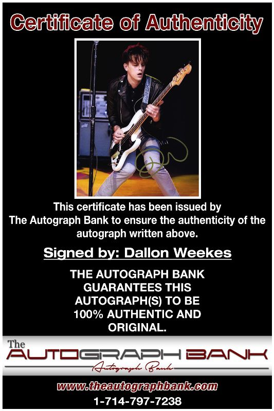 Dallon Weekes proof of signing certificate