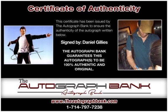 Daniel Gillies proof of signing certificate