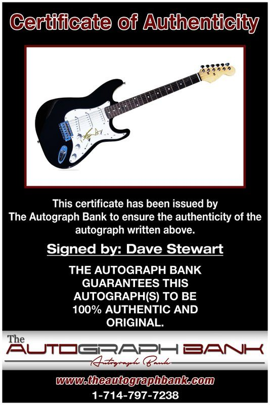 Dave Stewart proof of signing certificate