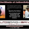 Don Dokken certificate of authenticity from the autograph bank