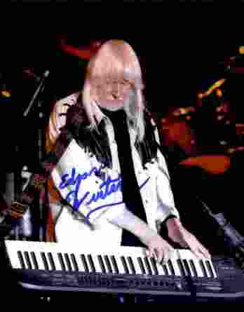 Edgar Winter authentic signed 8x10 picture