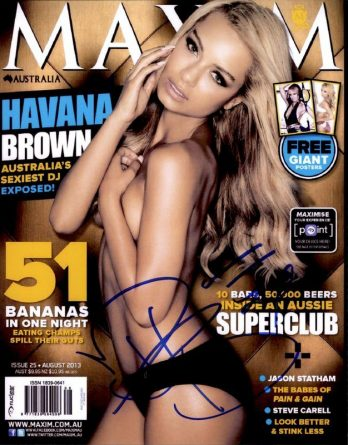 Havana Brown authentic signed 8x10 picture
