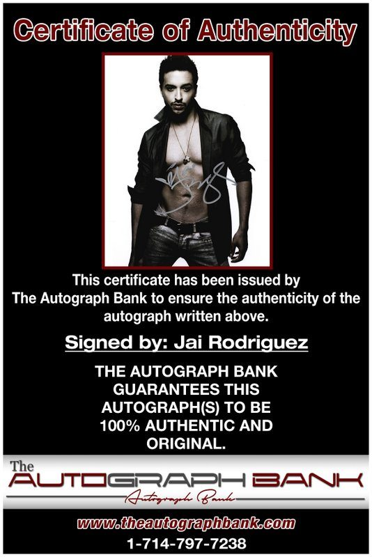 Jai Rodriguez proof of signing certificate