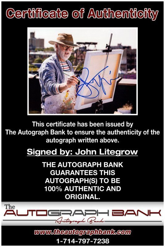 John Lithgow proof of signing certificate