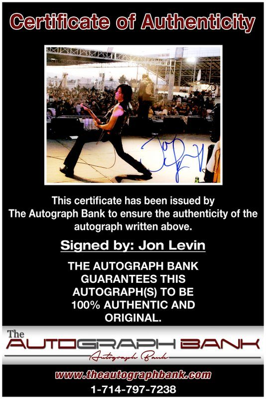 Jon Levin proof of signing certificate