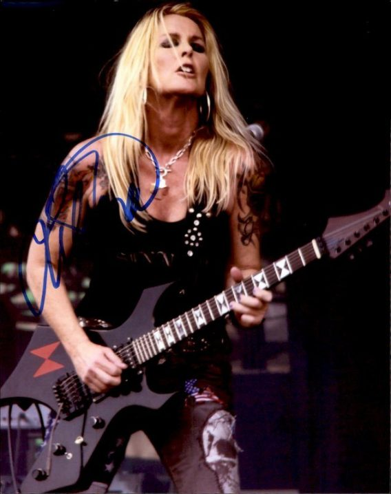 Lita Ford authentic signed 8x10 picture