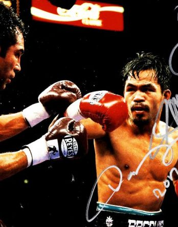 Manny Pacquiao authentic signed 8x10 picture