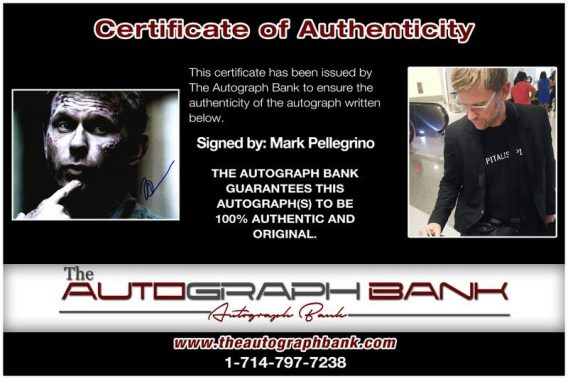 Mark Pellegrino proof of signing certificate