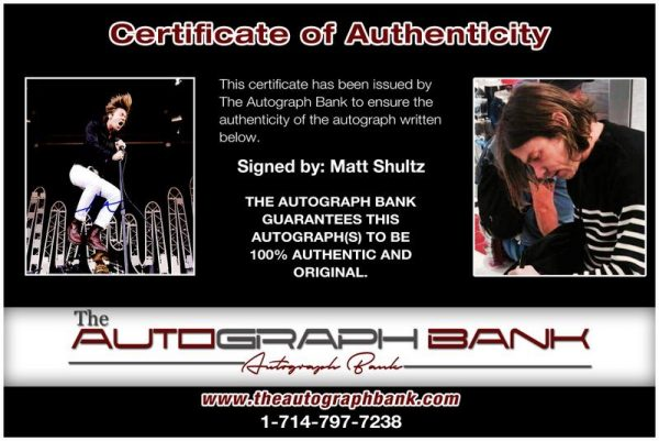Matt Shultz proof of signing certificate