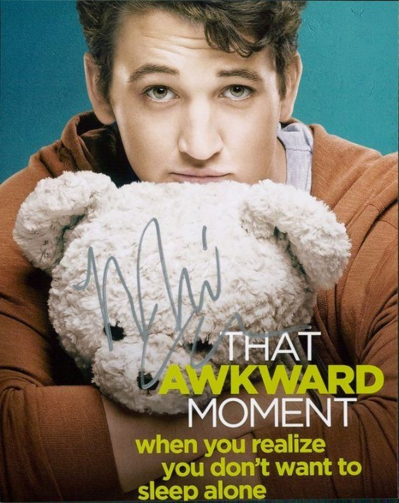 Miles Teller authentic signed 8x10 picture