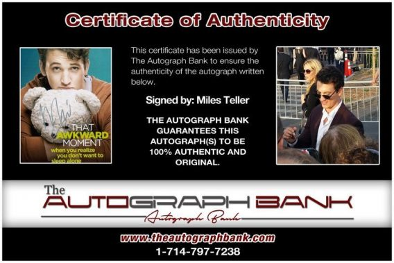 Miles Teller proof of signing certificate