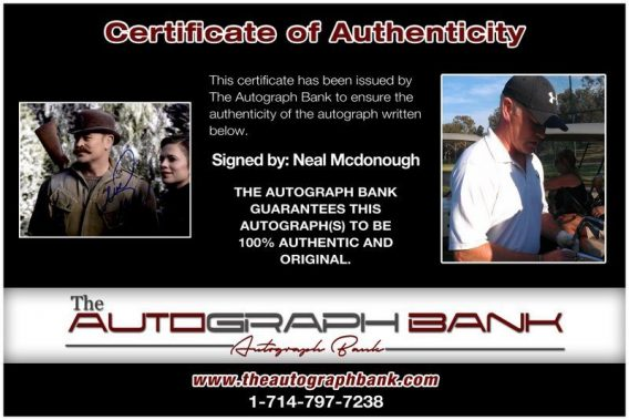Neal Mcdonough proof of signing certificate