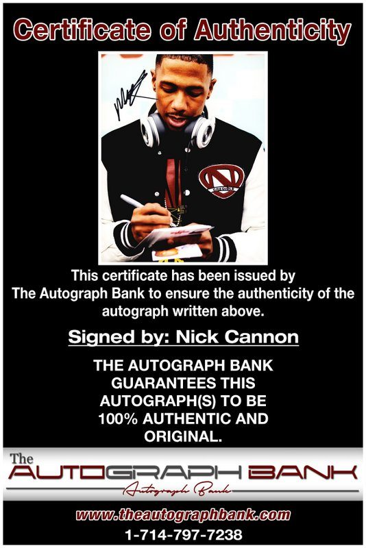 Nick Cannon proof of signing certificate