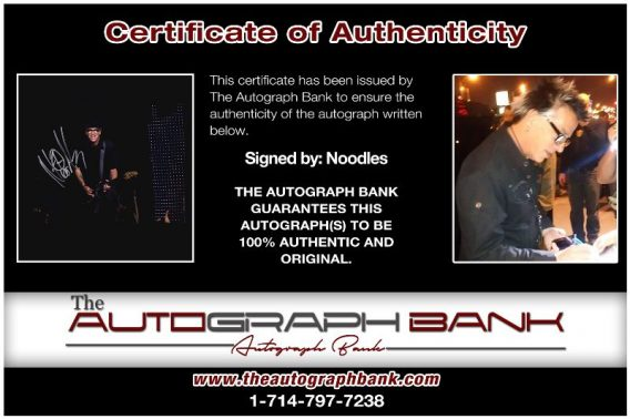 Noodles proof of signing certificate