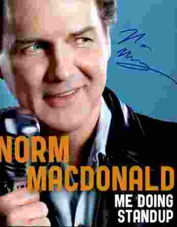 Norm Macdonald authentic signed 8x10 picture