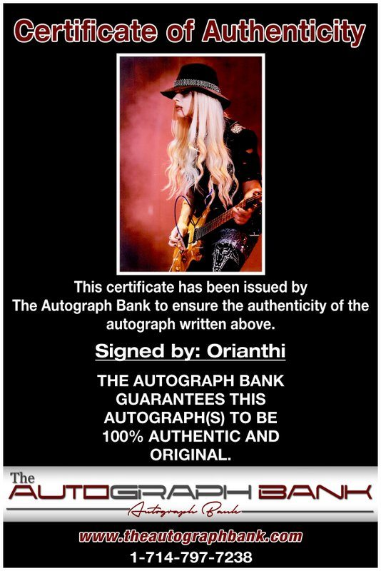 Orianthi Panagaris proof of signing certificate