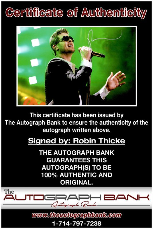 Robin Thicke proof of signing certificate