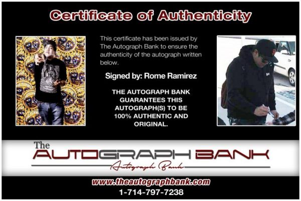 Rome Ramirez proof of signing certificate